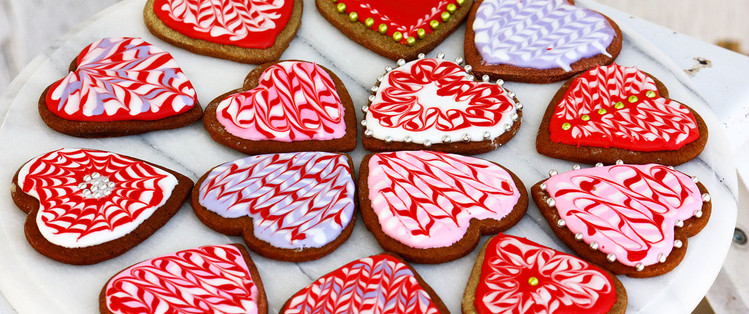 home made heart cookies